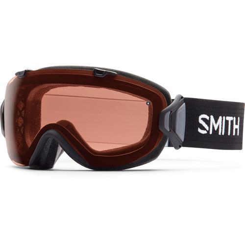 Smith Optics Women's Medium-Fit I/O S Snow Goggle (Black Frame, Polarized Rose Copper/Blue Sensor Mirror Lens)