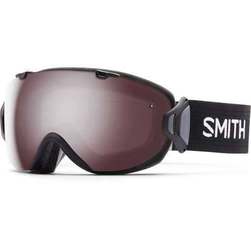 Smith Optics Women's Medium-Fit I/O S Snow Goggle (Black Frame, Ignitor Mirror/Red Sensor Mirror Lens)