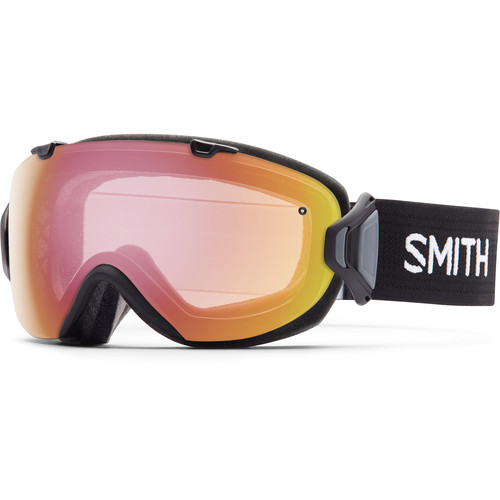 Smith Optics Women's Medium-Fit I/O S Snow Goggle (Black Frame, Blackout/Photochromic Red Sensor Mirror Lens)