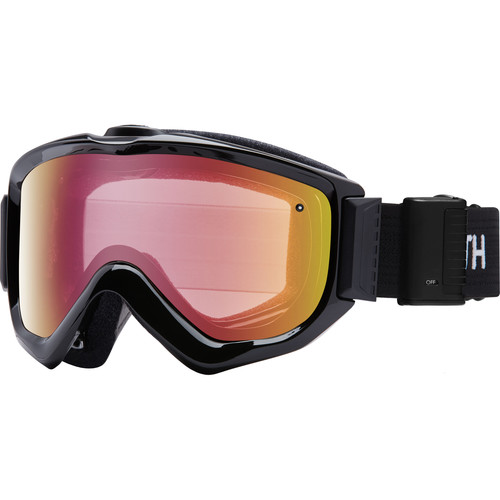 Smith Optics Knowledge Turbo Fan OTG Snow Goggles (Black Frame, Red Sensor Mirror Lens)