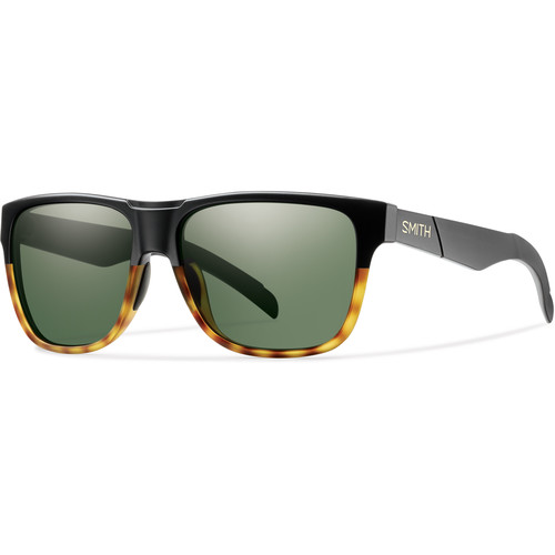 Smith Optics Lowdown Sunglasses with Gray-Green Lenses (Matte Black Fade Tortoise Frames)