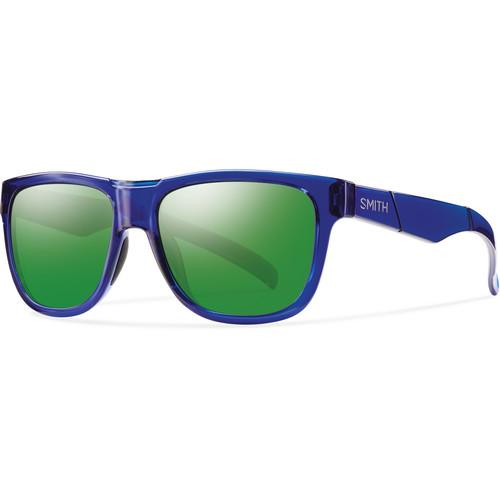 Smith Optics Lowdown Slim Sunglasses (Crystal Blue - Gray Carbonic TLT & Green Sol-X Mirror Coat)