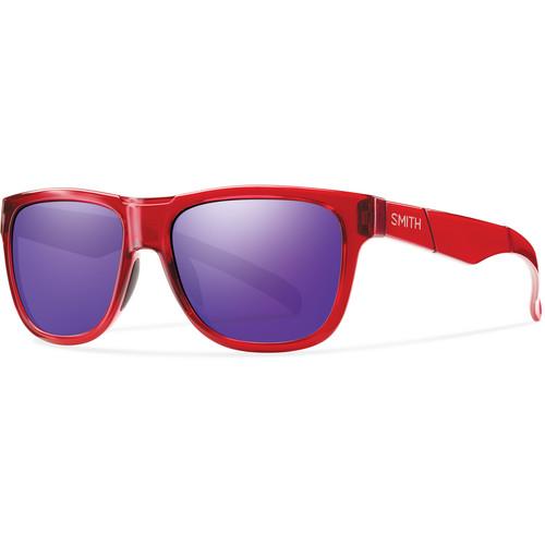 Smith Optics Lowdown Slim Sunglasses (Crystal Red - Purple Sol-X Mirror Carbonic TLT)