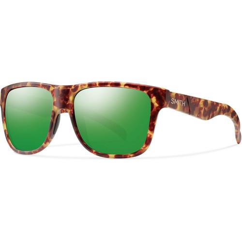 Smith Optics Lowdown XL Men's Sunglasses with Green Sol-X Mirror Lenses (Matte Yellow Tortoise Frame)