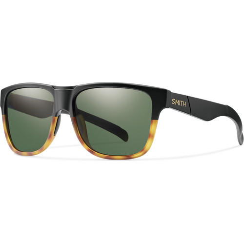 Smith Optics Lowdown XL Men's Sunglasses with Gray-Green Lenses (Matte Black Fade Tortoise Frame)
