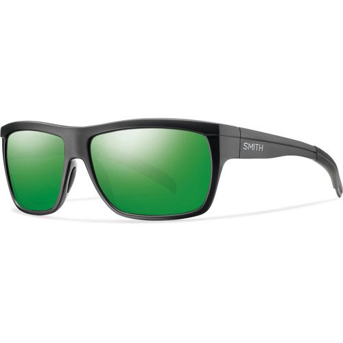 Smith Optics Men's Mastermind Sunglasses (Polarized Green Sol-X Mirror Lenses / Matte Black Frames)