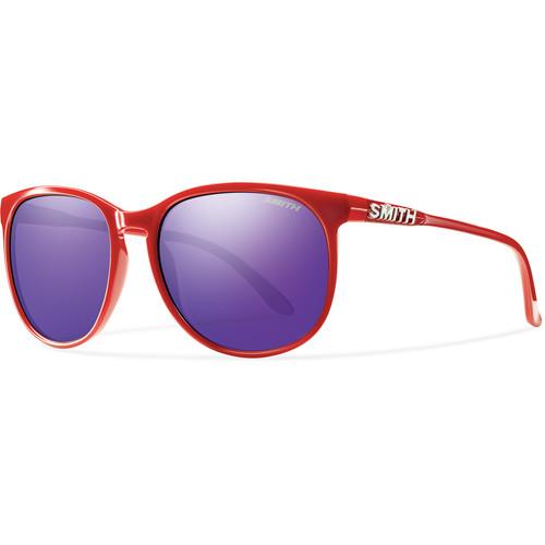 Smith Optics Mt Shasta Unisex Sunglasses (Red Frames & Purple Sol-X Carbonic TLT Lenses)