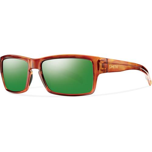 Smith Optics Outlier Sunglasses (Honey Tortoise Frame - Polarized Green Sol-X Carbonic TLT Lenses)