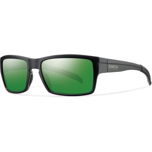 Smith Optics Outlier Sunglasses (Matte Black Frame - Polarized Green Sol-X Carbonic TLT Lenses)