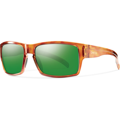 Smith Optics Outlier Men's XL Sunglasses (Honey Tortoise Frames & Polarized Green Sol-X Carbonic TLT Lenses)