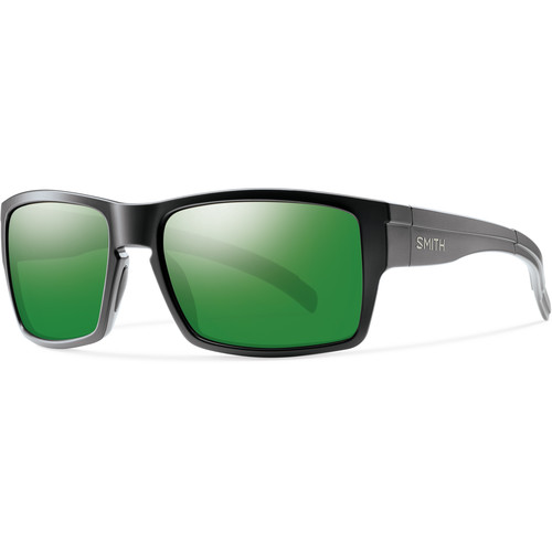 Smith Optics Outlier Men's XL Sunglasses (Matte Black Frames & Polarized Green Sol-X Carbonic TLT Lenses)