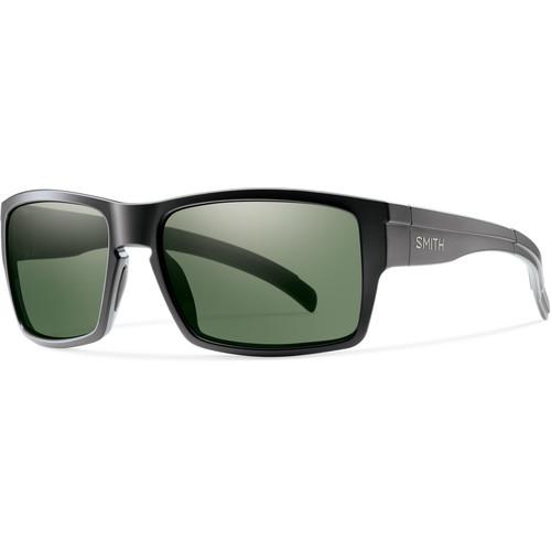 Smith Optics Outlier Men's XL Sunglasses (Matte Black Frames & Polarized Gray Green Carbonic TLT Lenses)