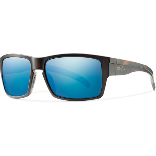 Smith Optics Outlier Men's XL Sunglasses (Matte Tortoise Frames & Polarized Blue Sol-X Carbonic TLT Lenses)