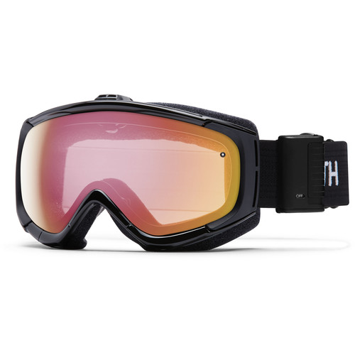 Smith Optics Phenom Turbo Fan Snow Goggle (Black Frame, Red Sensor Mirror Lenses)