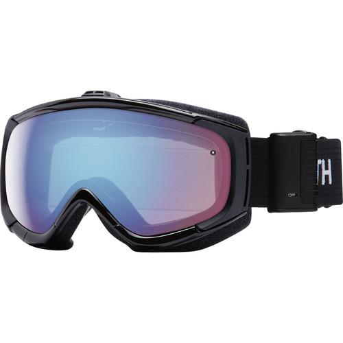 Smith Optics Phenom Turbo Fan Snow Goggle (Black Frame, Blue Sensor Mirror Lenses)