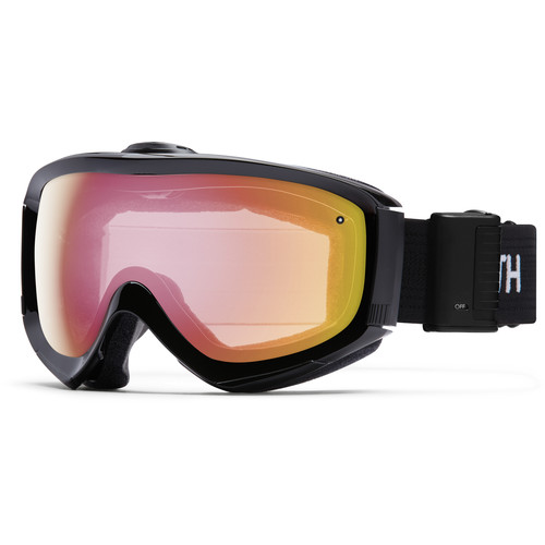 Smith Optics Medium/Large-Fit Prophecy Turbo Fan Snow Goggle (Black Frame, Red Sensor Mirror Lens)