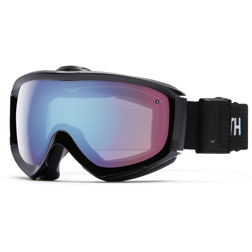Smith Optics Medium/Large-Fit Prophecy Turbo Fan Snow Goggle (Black Frame, Blue Sensor Mirror Lens)