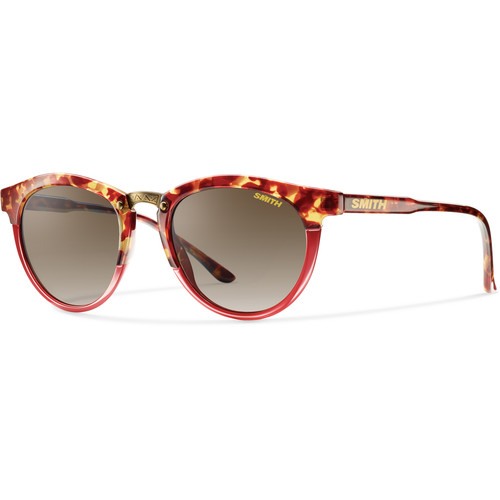 Smith Optics Questa Women's Sunglasses (Tortoise Red Frames & Brown Gradient Carbonic Lenses)