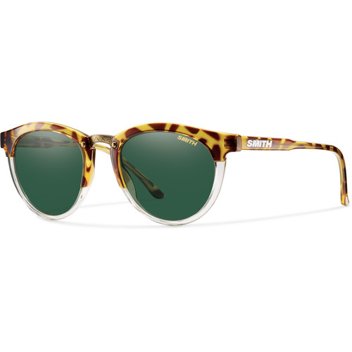 Smith Optics Questa Women's Sunglasses (Amber Tortoise Frames & Green Carbonic Lenses)
