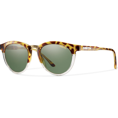 Smith Optics Questa Women's Sunglasses (Amber Tortoise Frames & Polarized Gray Green Carbonic TLT Lenses)