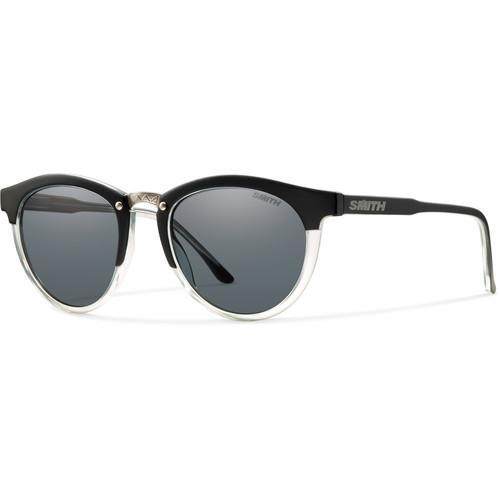 Smith Optics Questa Women's Sunglasses (Matte Black Crystal Frames & Polarized Gray Carbonic TLT Lenses)