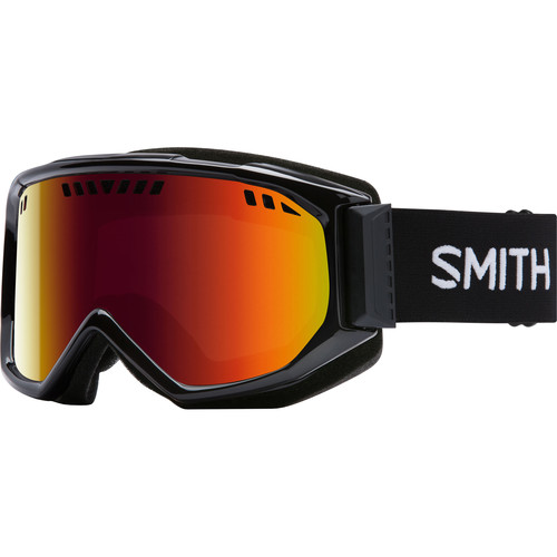 Smith Optics Medium-Fit Scope Snow Goggle (Black Frames, Red Sol-X Mirror Lenses)