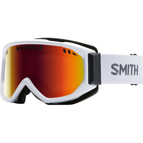 Smith Optics Medium-Fit Scope Snow Goggle (White Frames, Red Sol-X Mirror Lenses)