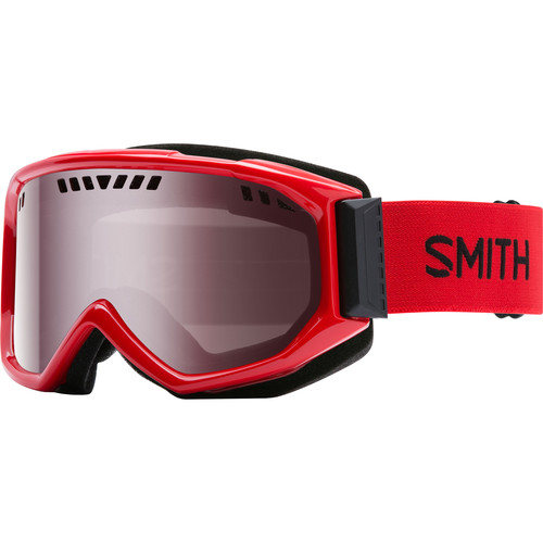 Smith Optics Medium-Fit Scope Snow Goggle (Fire Frames, Ignitor Mirror Lenses)