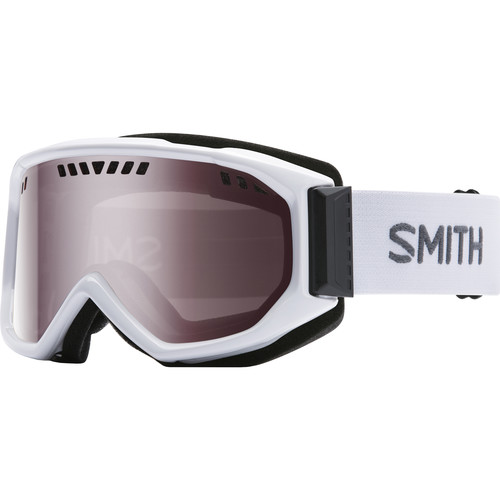 Smith Optics Medium-Fit Scope Snow Goggle (White Frames, Ignitor Mirror Lenses)