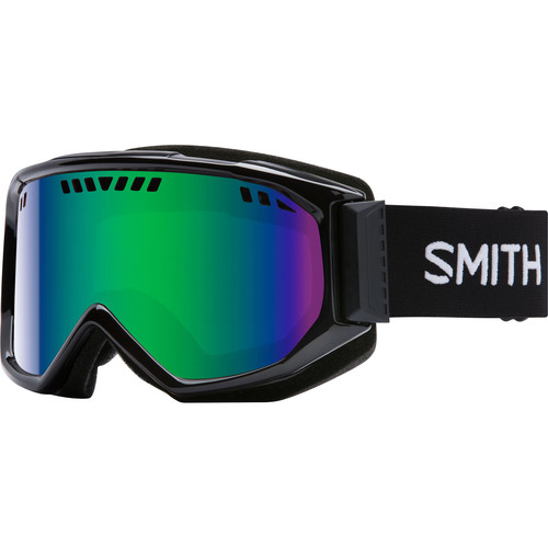 Smith Optics Medium-Fit Scope Snow Goggle (Black Frames, Green Sol-X Mirror Lenses)