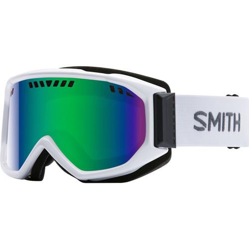Smith Optics Medium-Fit Scope Snow Goggle (White Frames, Green Sol-X Mirror Lenses)