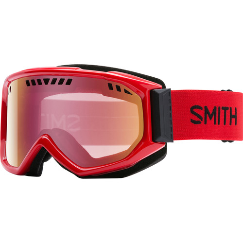 Smith Optics Medium-Fit Scope Snow Goggle (Fire Frames, Red Sensor Mirror Lenses)