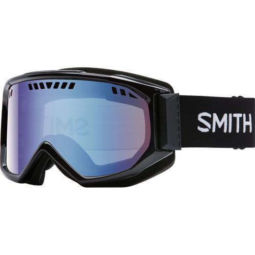 Smith Optics Medium-Fit Scope Snow Goggle (Black Frames, Blue Sensor Mirror Lenses)