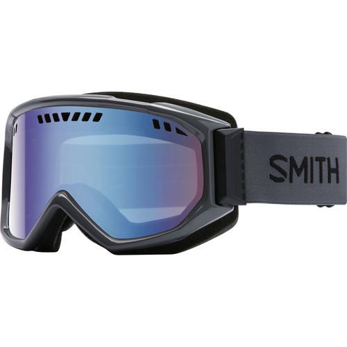 Smith Optics Medium-Fit Scope Snow Goggle (Charcoal Frames, Blue Sensor Mirror Lenses)