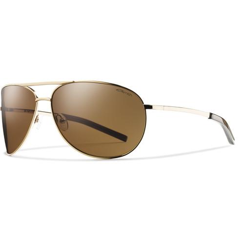 Smith Optics Serpico Sunglasses (Gold - Polarized Brown Carbonic TLT)