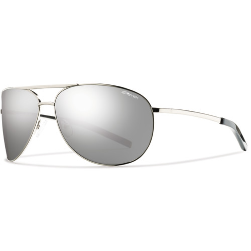 Smith Optics Serpico Sunglasses (Silver - Polarized Platinum Carbonic TLT)