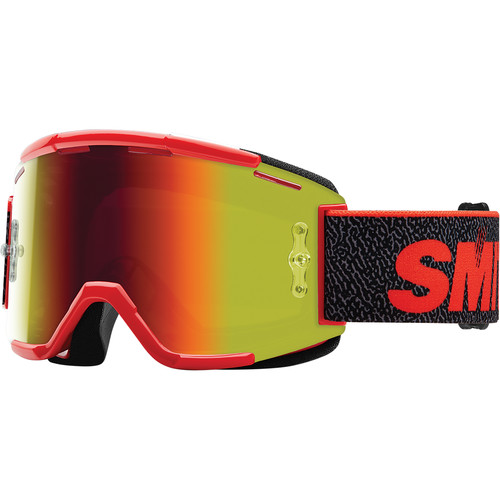 Smith Optics Squad MTB Off Road Goggle (Archive 1994 Red Frame, Red Sol-X Mirror Lens)