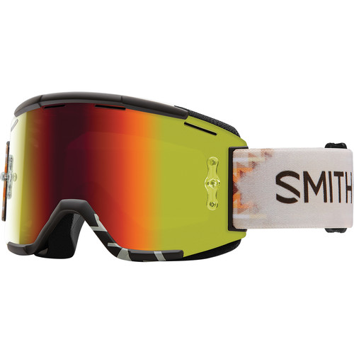 Smith Optics Squad MTB Off Road Goggle (Lasso Frame, Red Sol-X Mirror Lens)