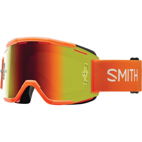 Smith Optics Squad MTB Off Road Goggle (Orange Frame, Red Sol-X Mirror Lens)