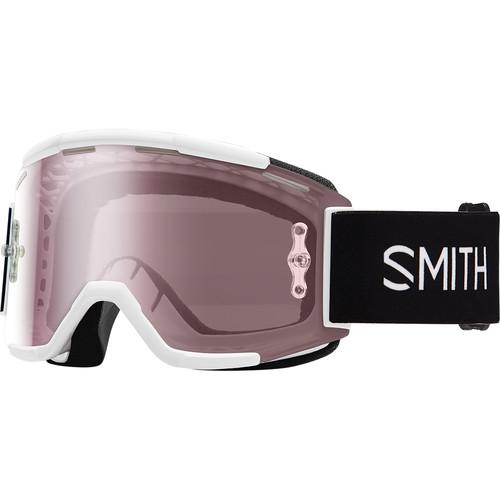 Smith Optics Squad MTB Off Road Goggle (White Frame, Ignitor Mirror Lens)