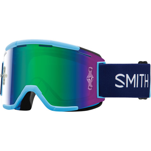 Smith Optics Squad MTB Off Road Goggle (Linear Frame, Green Sol-X Mirror Lens)