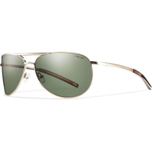 Smith Optics Serpico Slim Sunglasses (Gold - Polarized Gray Green Carbonic TLT)