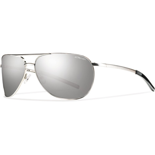 Smith Optics Serpico Slim Sunglasses (Silver - Polarized Platinum Carbonic TLT)