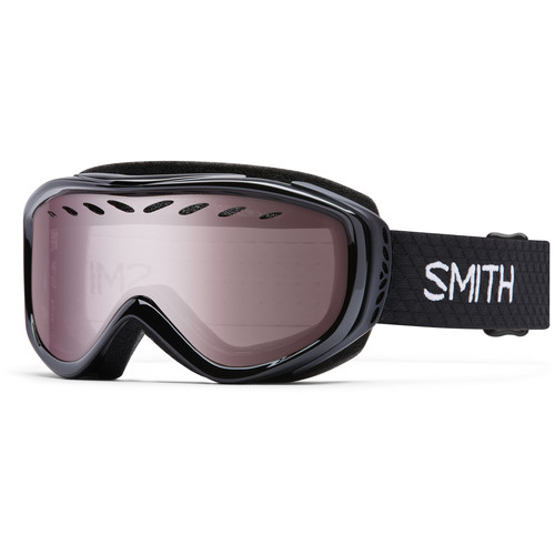 Smith Optics Women's-Fit Transit Snow Goggles (Black Frames, Ignitor Mirror Lenses)