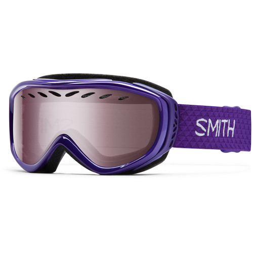 Smith Optics Women's-Fit Transit Snow Goggles (Ultraviolet Frames, Ignitor Mirror Lenses)