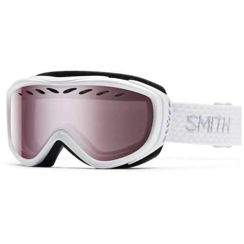 Smith Optics Women's-Fit Transit Snow Goggles (White Frames, Ignitor Mirror Lenses)
