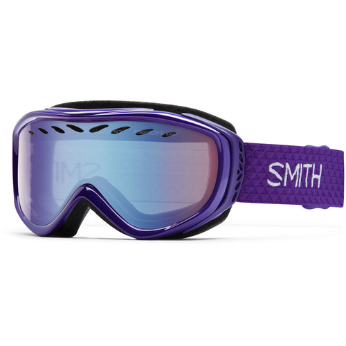 Smith Optics Women's-Fit Transit Snow Goggles (Ultraviolet Frames, Blue Sensor Mirror Lenses)