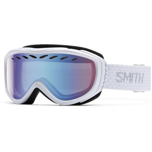 Smith Optics Women's-Fit Transit Snow Goggles (White Frames, Blue Sensor Mirror Lenses)
