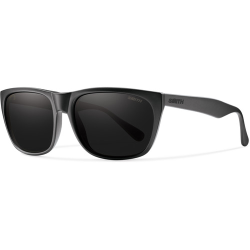 Smith Optics Tioga Unisex Sunglasses with Impossibly Black Frames & Blackout Carbonic TLT Lenses