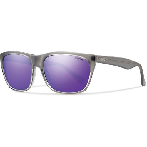 Smith Optics Tioga Unisex Sunglasses with Smoke Split Frames & Purple Sol-X Carbonic TLT Lenses